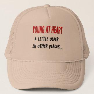 Barn på hjärta truckerkeps