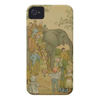 Barn som rider på elefanten (lithoen) iPhone 4 Case-Mate skal
