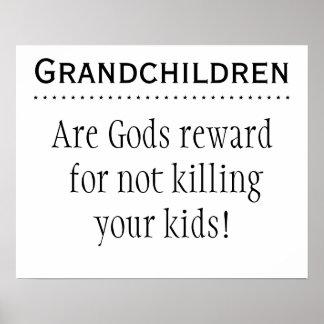 Barnbarn är belöningar poster