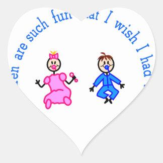Barnbarn är roliga hjärtformat klistermärke
