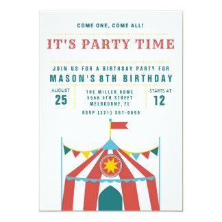 Barncirkusfödelsedagsfest inbjudan