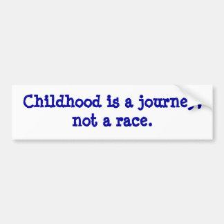 barndom är en resa bildekal