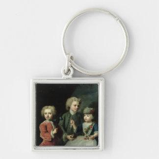 Barnen av councilloren Barthold Fyrkantig Silverfärgad Nyckelring
