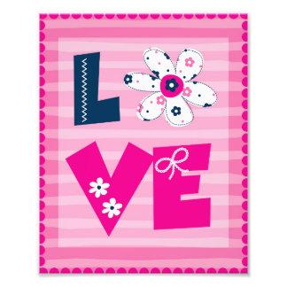 Barnkammarekonst - kärlekblommigt- och rosarandar fototryck