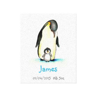 Barnkammarekonst med pingvinet - skräddarsy med canvastryck