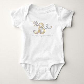 Barnkläder för monogram för Bella flickor B känd T Shirt