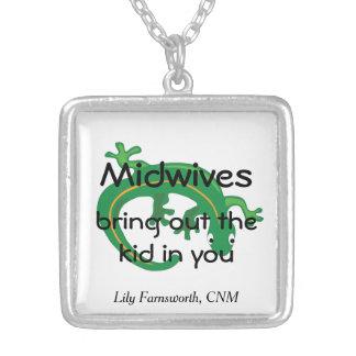 Barnmorskor och grön ödlavridning anpassningsbara smycken