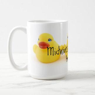 Barnmorskor och gula Rubber ankor Kaffemugg