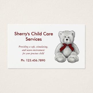 Barnomsorg servar, daghem, nalle, ritar visitkort