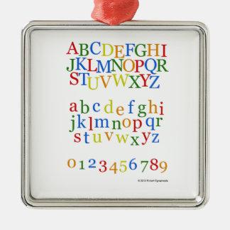 Barns färgrik alfabetUpper + Litet Julgransprydnad Metall