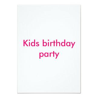 Barns födelsedagparty 12,7 x 17,8 cm inbjudningskort