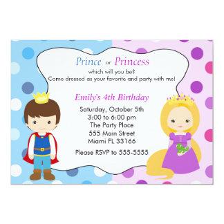 Barns födelsedagparty för Prince Princess Inbjudan