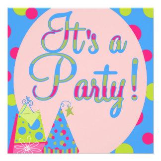 Barns födelsedagparty personliga tillkännagivande