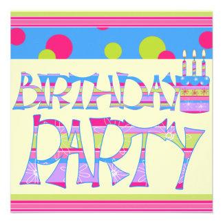 Barns födelsedagparty unika inbjudningar
