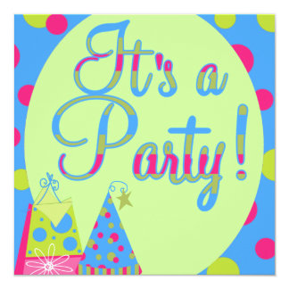 Barns födelsedagparty inbjudan