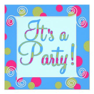 Barns födelsedagparty personliga inbjudningskort