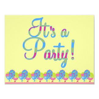 Barns födelsedagparty tillkännagivande