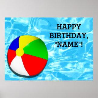 barns födelsedagpartydekoration poster