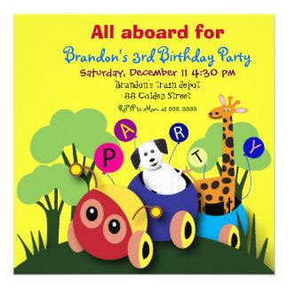Barns födelsedagpartyinbjudan 050: Roligt tåg Inbjudningar