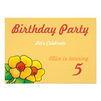 Barns födelsedagpartyinbjudan