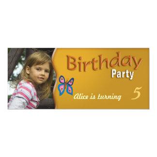 Barns födelsedagpartyinbjudan 10,2 x 23,5 cm inbjudningskort