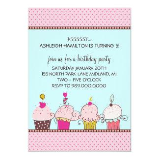 Barns födelsedagpartyinbjudningar 12,7 x 17,8 cm inbjudningskort