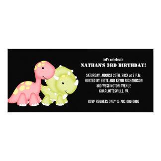 Barns födelsedagpartyinbjudningar (Dinosaurs) Inbjudningskort