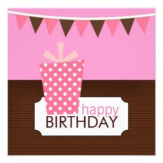 Barns födelsedagpartyinbjudningar (för en flicka)