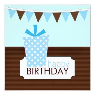 Barns födelsedagpartyinbjudningar fyrkantigt 13,3 cm inbjudningskort