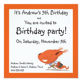 Barns födelsedagpartyinbjudningar med ekorren fyrkantigt 13,3 cm inbjudningskort