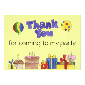 Barns födelsedagpartytack cards personlig mig skräddarsydda inbjudan