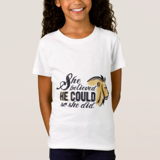 Barns kristen uppmuntranskjorta - hans styrka tee shirt