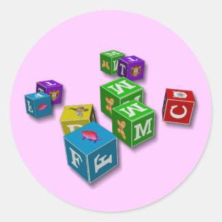 Barns kvarter - klistermärkear runt klistermärke