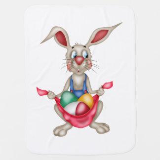 Barns påskfilt med den humoristiska kaninen bebisfilt
