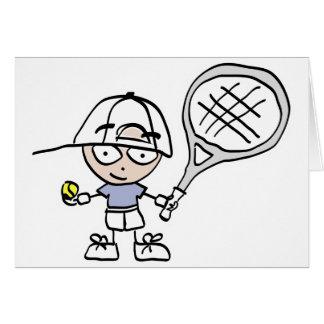 Barns tennis hälsningskort