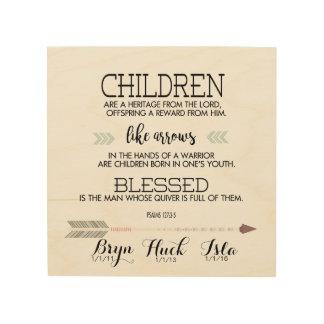 Barns Verse för namnScripture med pilar Trätavla