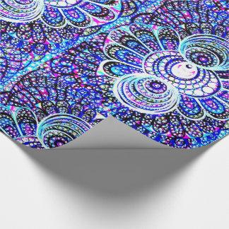 Bärnstensfärgad designgåva som slår in papper presentpapper
