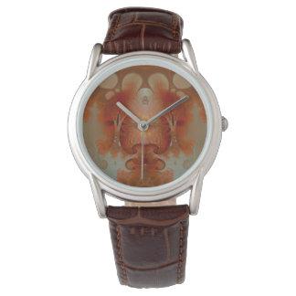 Bärnstensfärgad Fractal Armbandsur