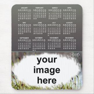 Bärnstensfärgad kalender för foto 2016 musmatta