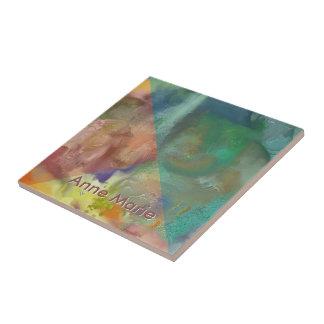 Bärnstensfärgad Lens abstrakt Kakelplatta