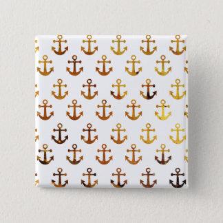 Bärnstensfärgad struktur ankrar mönster standard kanpp fyrkantig 5.1 cm