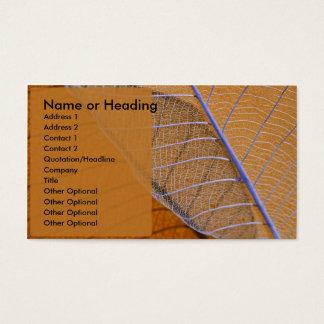 Bärnstensfärgade anslutningar visitkort
