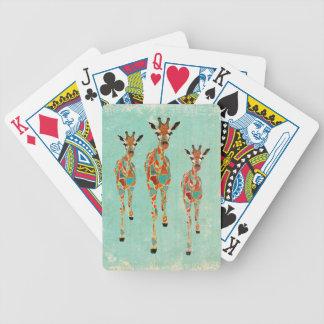 Bärnstensfärgat & Azure giraffkortdäck Spelkort