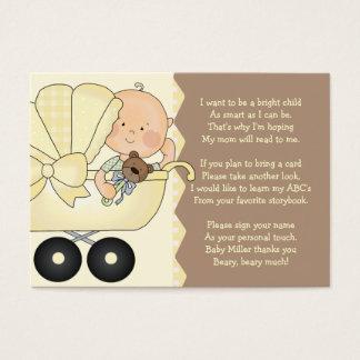 Barnvagn - bokmellanläggskort visitkort