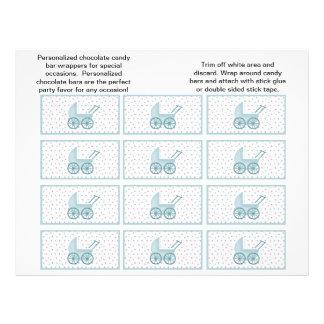 BarnvagnCandybar omslag (blått) Reklamblad 21,5 X 30 Cm