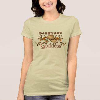 Barnyardgudinnaorangen blomstrar utslagsplatsen tee shirt