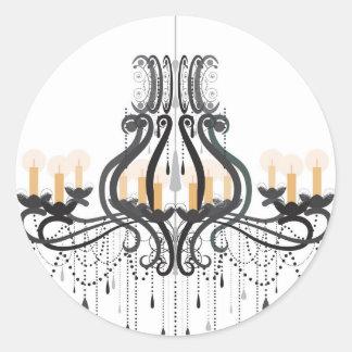 Barock ljuskrona runt klistermärke