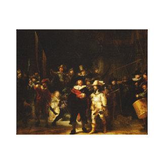 Barock målning för Rembrandt Nightwatch nattklocka Canvastryck