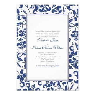 Barock rambröllopinbjudan personliga inbjudan