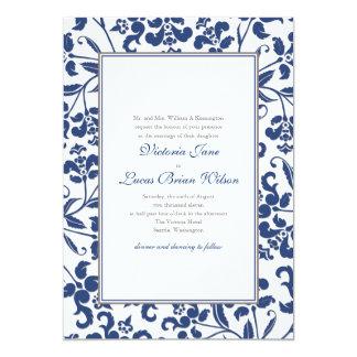 Barock rambröllopinbjudan 12,7 x 17,8 cm inbjudningskort